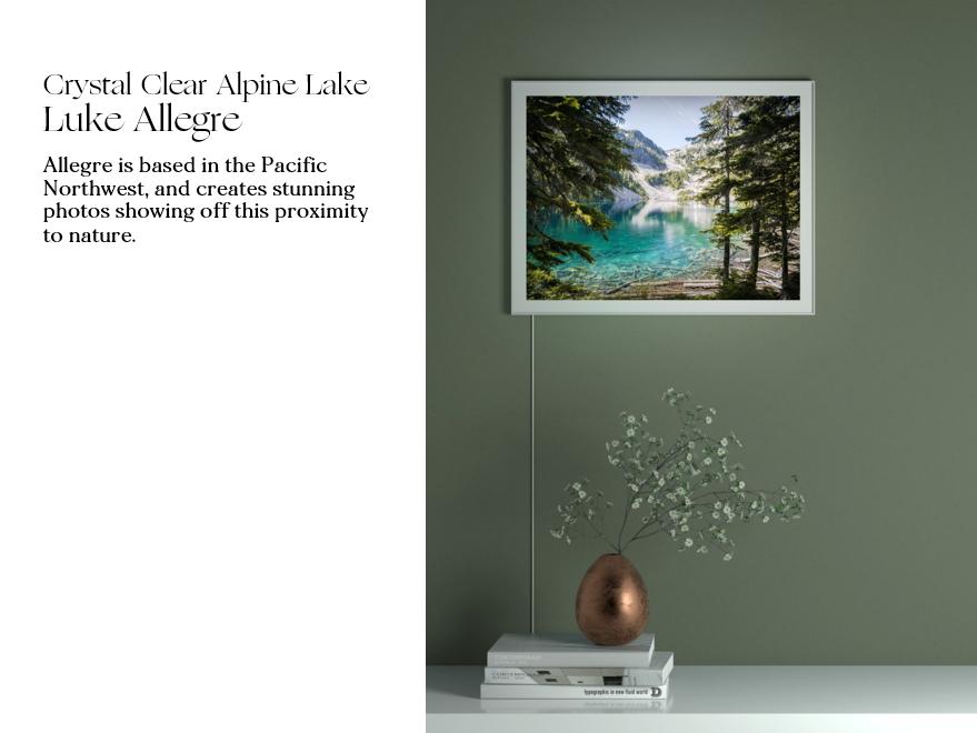 Crystal Clear Alpine Lake by Luke Allegre