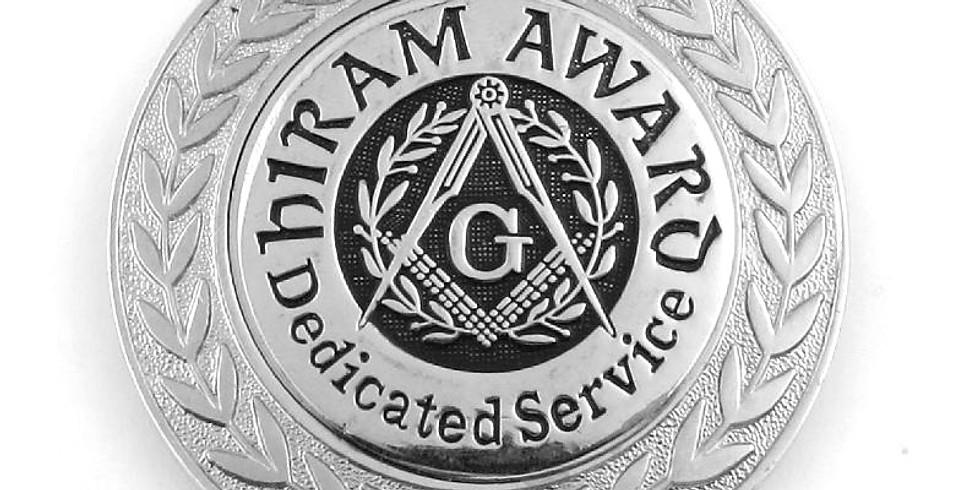 Hiram Award Ceremony & Dinner - Wor. Rod Moreland