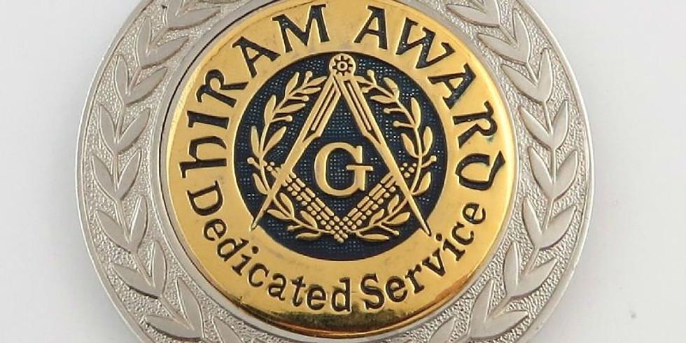 Hiram Award Ceremony & Dinner