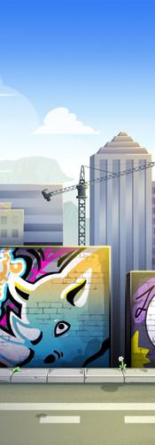 Beat It! City Background