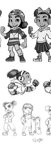 Beat It! Nyla sketches