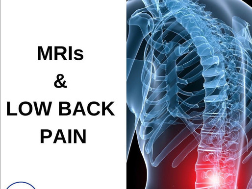 MRIs & LOW BACK PAIN