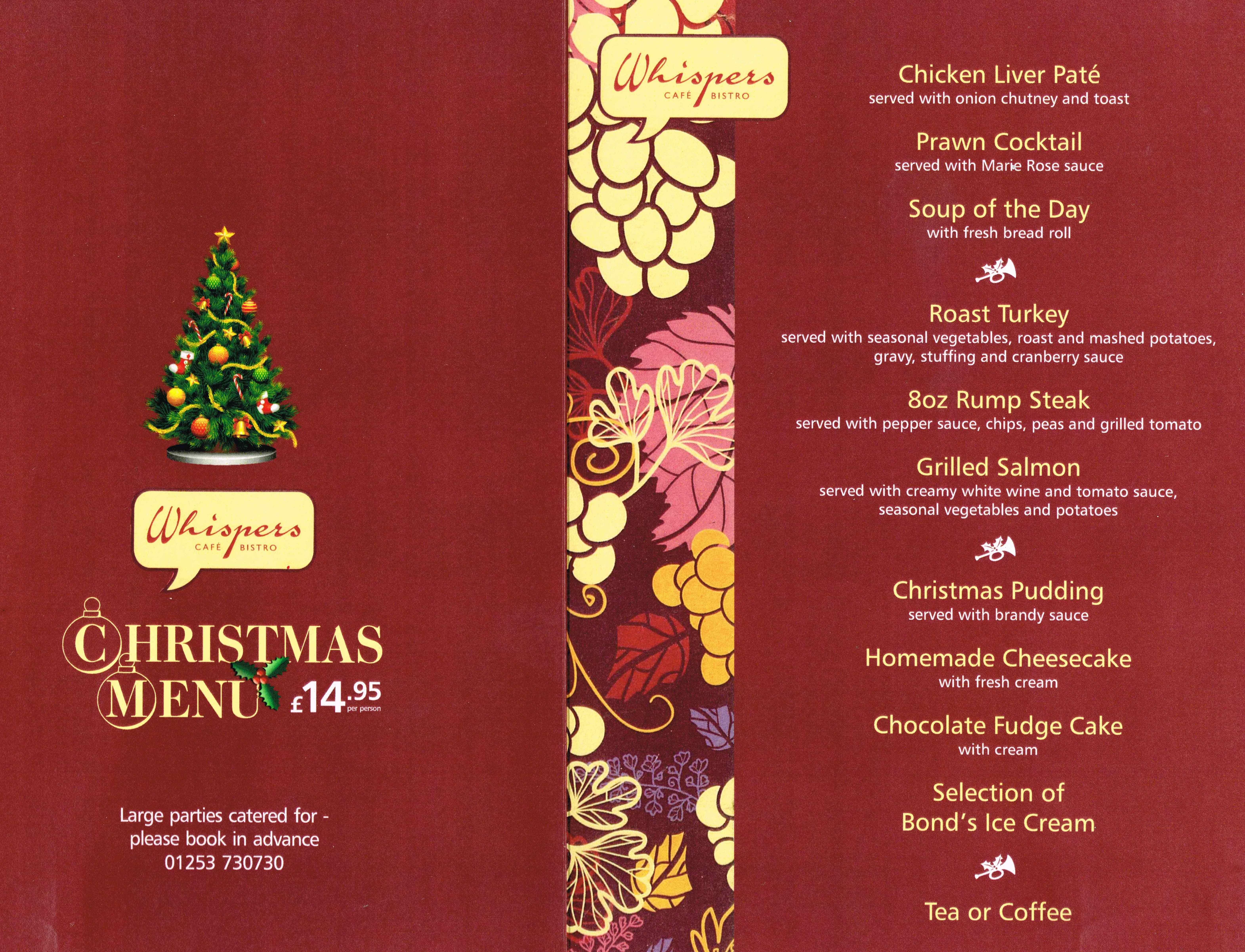 Christmas menu, 2014