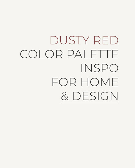 September Color of the Month | Dusty Red Color Palette