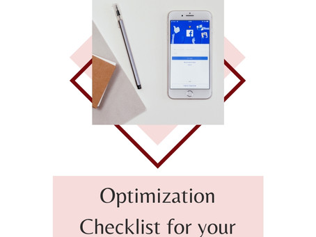 Optimization Checklist for Your Facebook Page