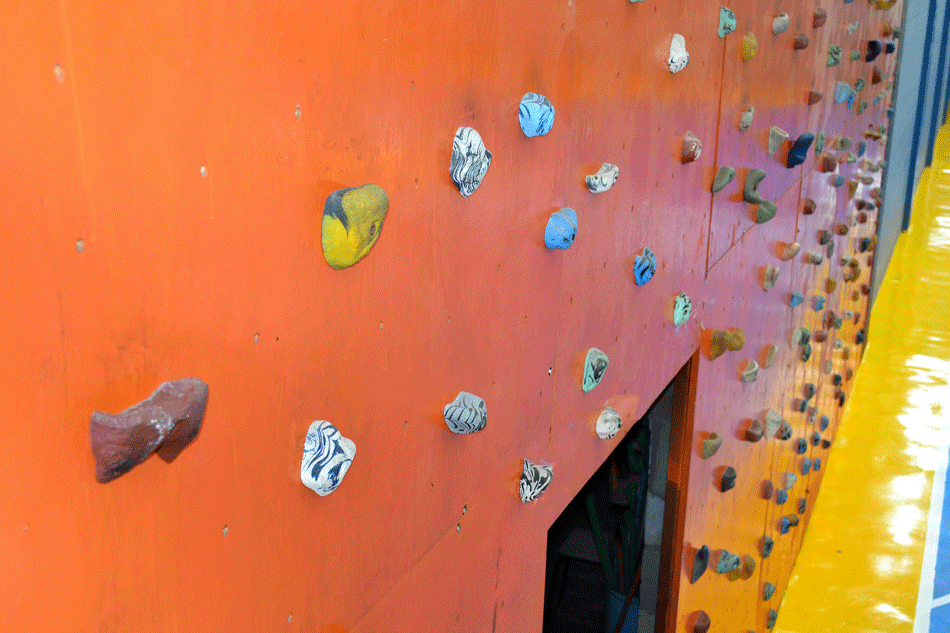 Parede escalada