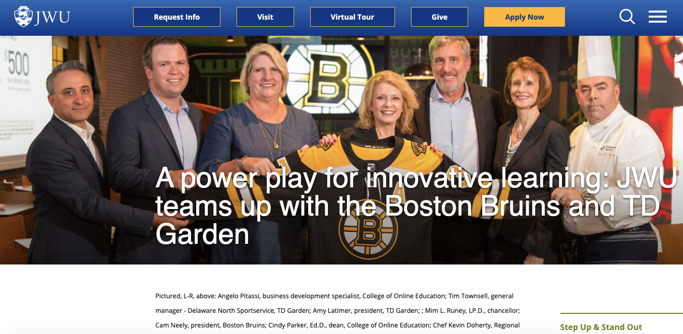 JWU/Bruins headline