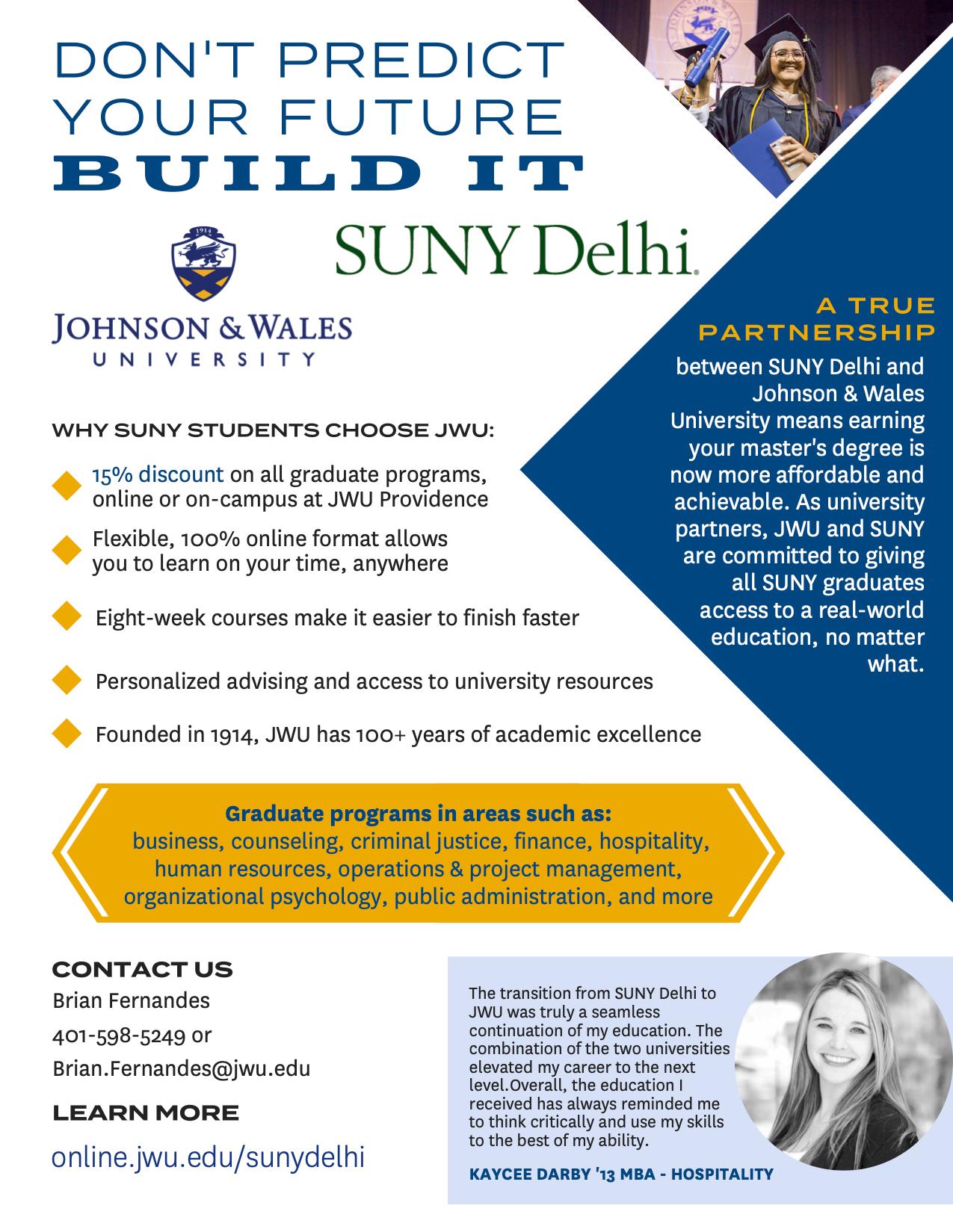 Corporate Education partnership flyer