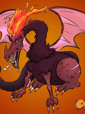 Dragon with Fire Mohawk