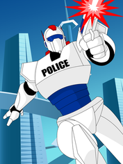 Futuristic Police Robot