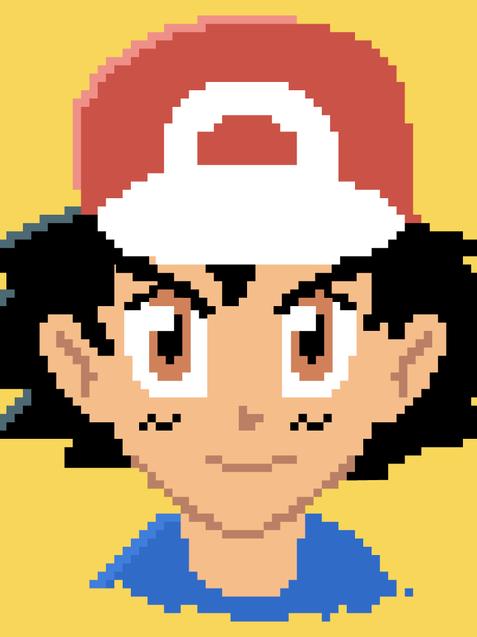 Ash Ketchum Pixel Art