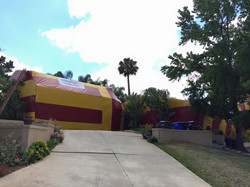 house with fumigation tent