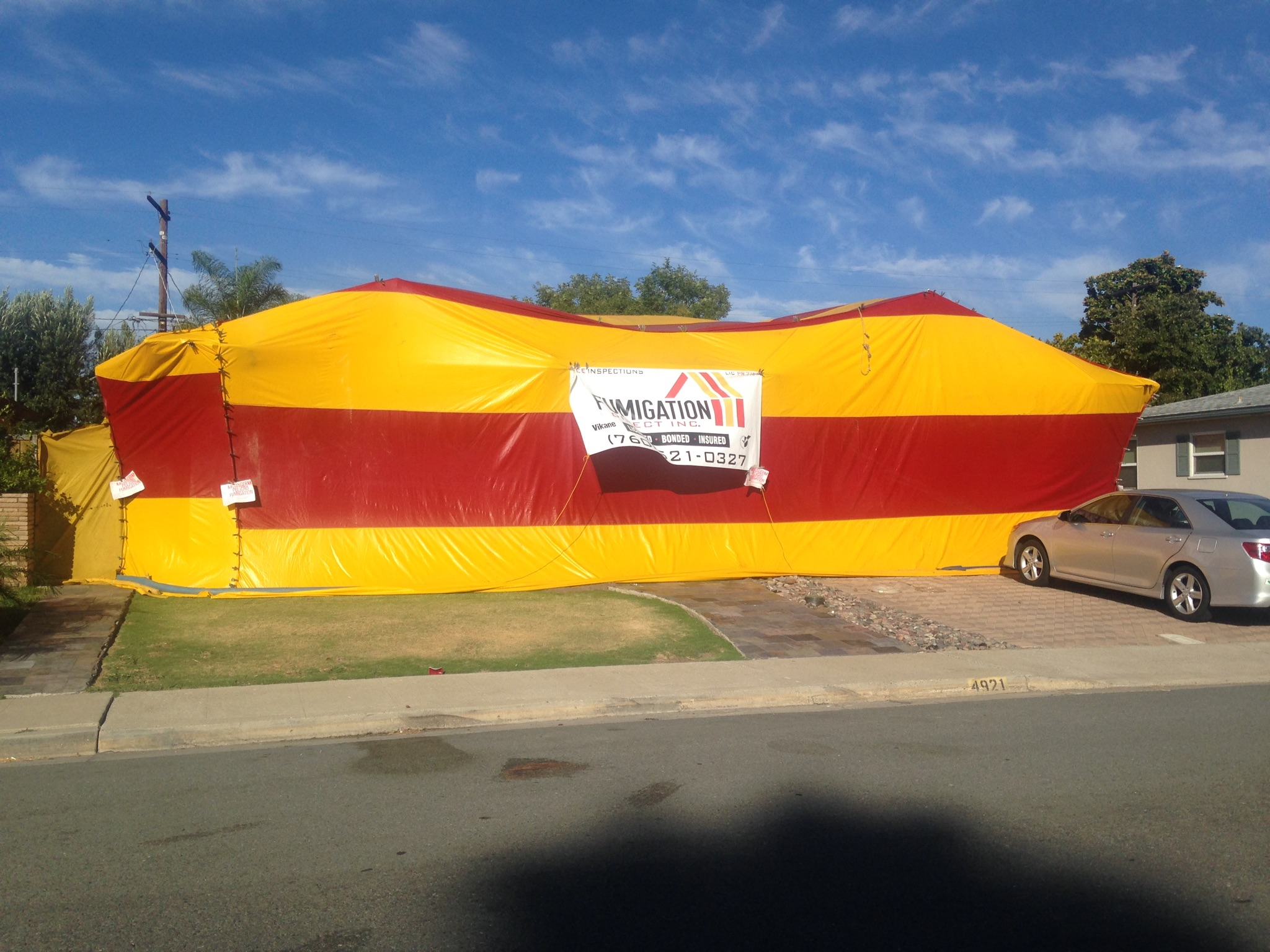 house fumigation tent