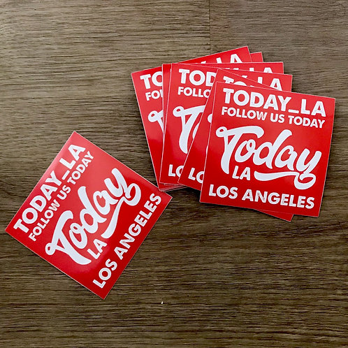 TodayLA Classic Red Sticker Pack