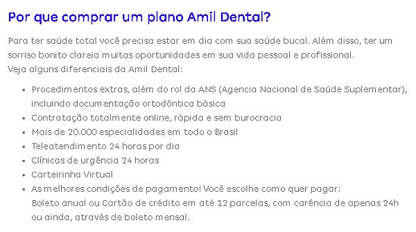 porque comprar um plano amil dental pf.p
