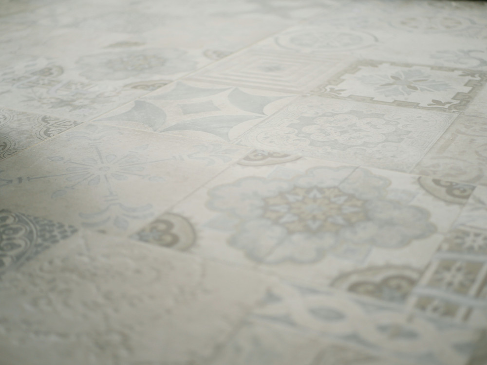 Beautiful tile floor with design as an idea in your new home