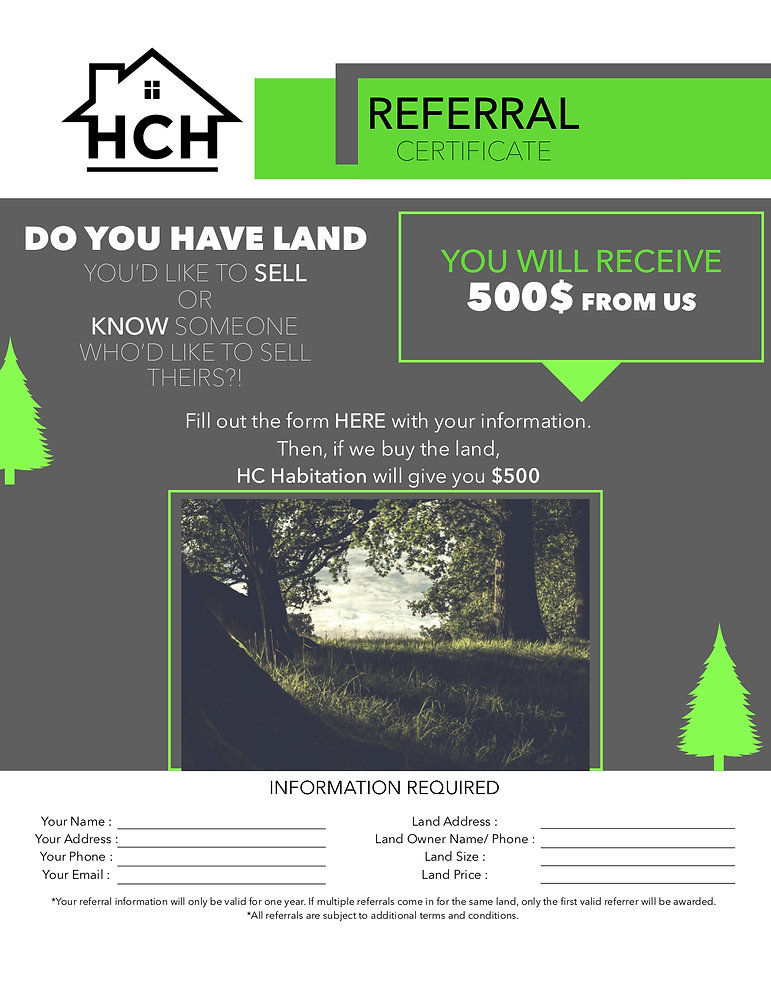 Land referral program