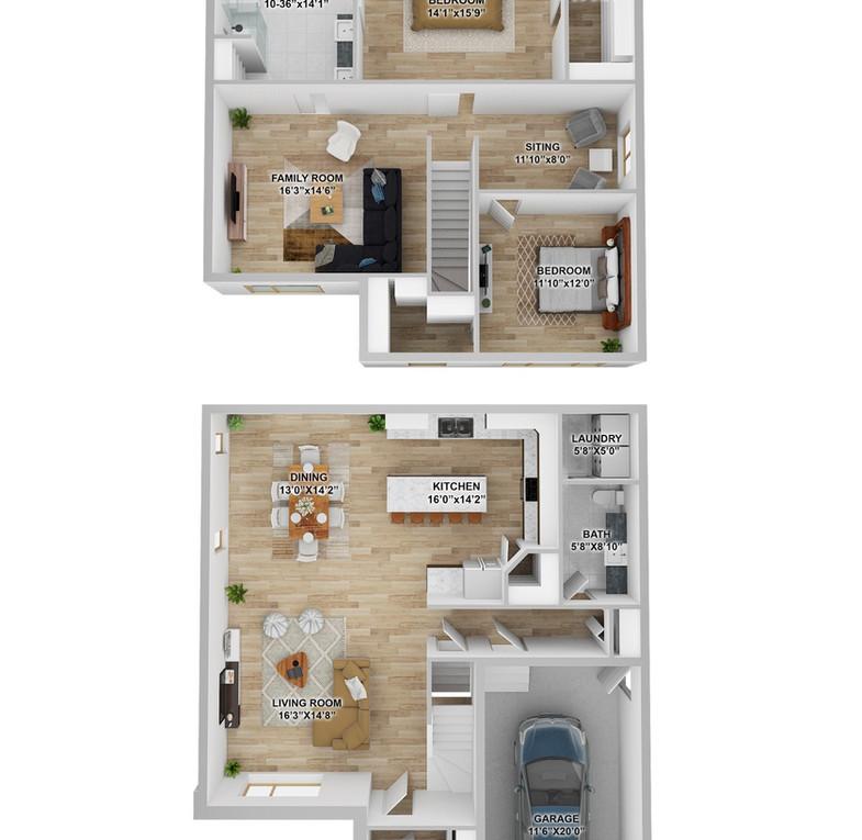 Matisse 3D plan maison