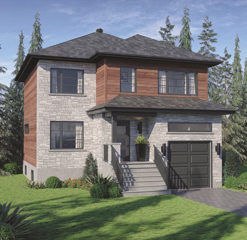 Matisse 3D rendering house plan