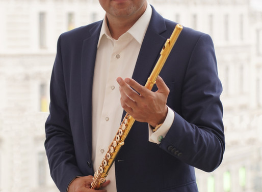 Principal flute of the Mariinsky orchestra Denis Lupachev.