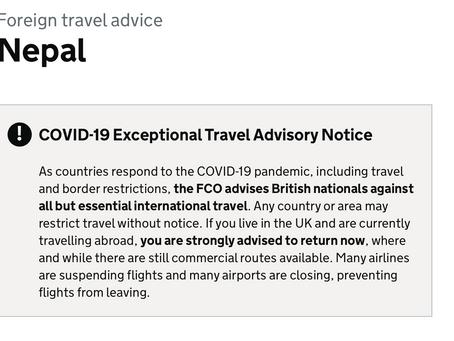 UK GOV Travel Advisory