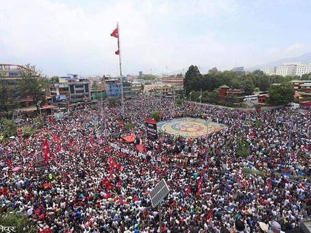 NAS ambulances assist injured in Kathmandu protests