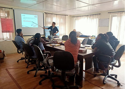 UK paramedics training Nepali EMTs