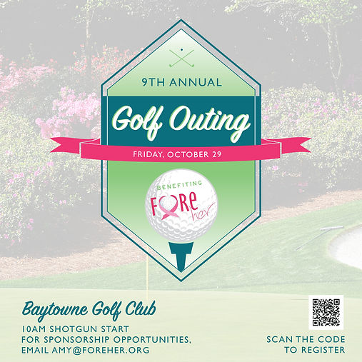 golf outing square graphic with qr code.
