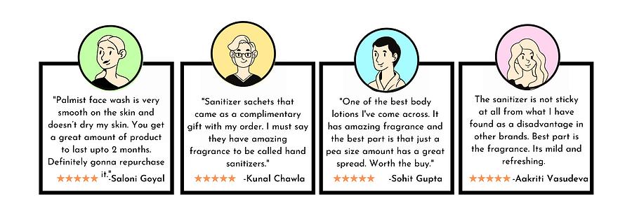 Palmist Pocket Sanitizer Customer feedback