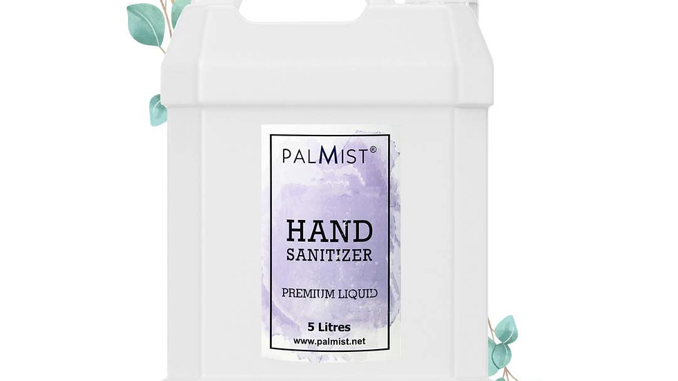 Hand Sanitizer Liquid Refill Pack 5 Litres, Family and Office Pack