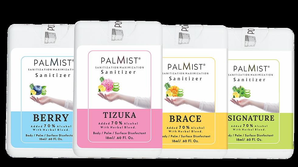 Palmist Multi-Fragrance Hand Sanitizer 18ml (Pack of 4) Spray