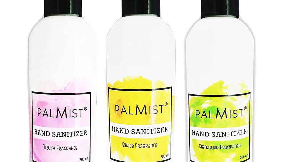 Palmist Multi-Fragrance Hand Sanitizer 200ml (Pack of 3) Gel