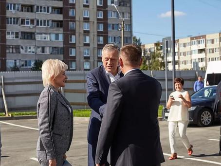 Губернатор Ленинградской области Александр Юрьевич Дрозденко  посетил  ЖК «Высший пилотаж»