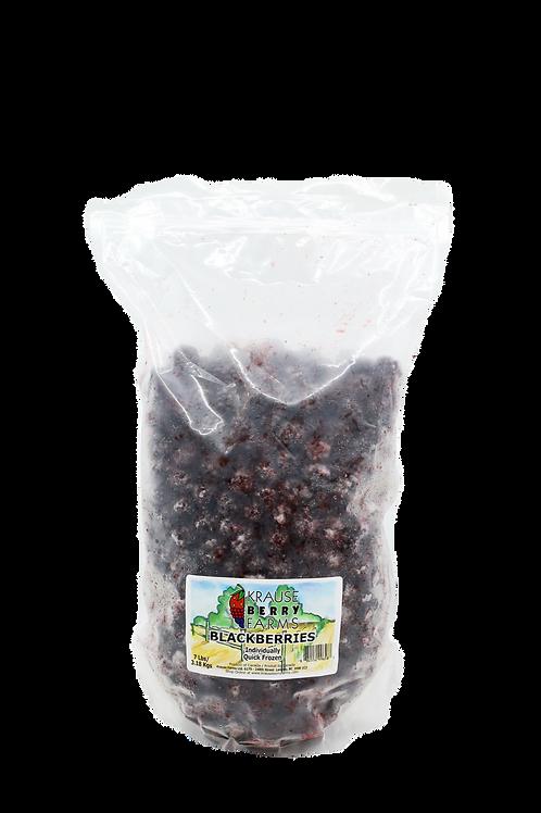 7 lbs Frozen IQF Blackberries