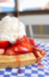 waffle beauty shots fresh strawberries (