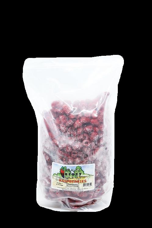 6 lbs Frozen IQF Raspberries