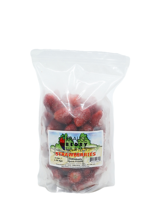 3 lbs Frozen IQF Strawberries