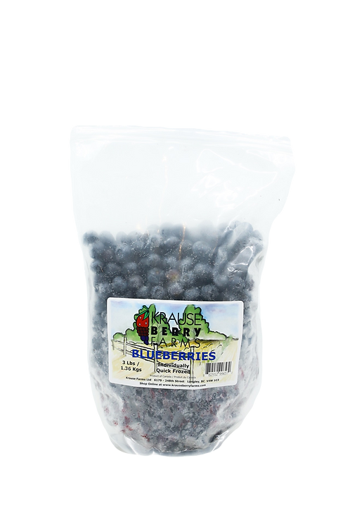 3lbs Frozen IQF Blueberries