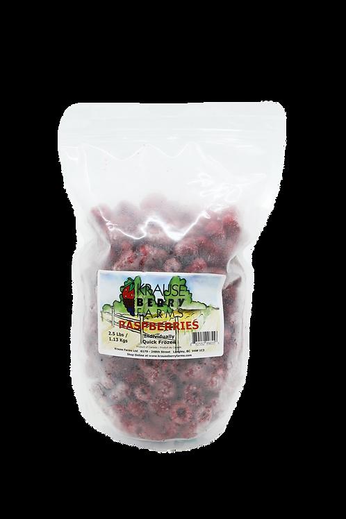 2.5lbs Frozen IQF Raspberries
