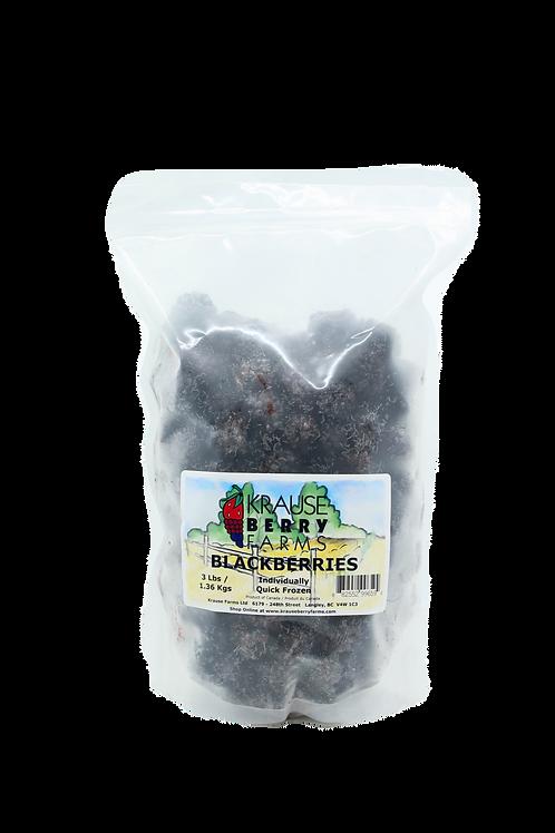 3 lbs Frozen IQF Blackberries