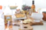 Rhubarb wine table top with farm food qu