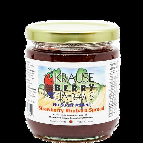 Strawberry Rhubarb Spread (No Sugar Added) (L)