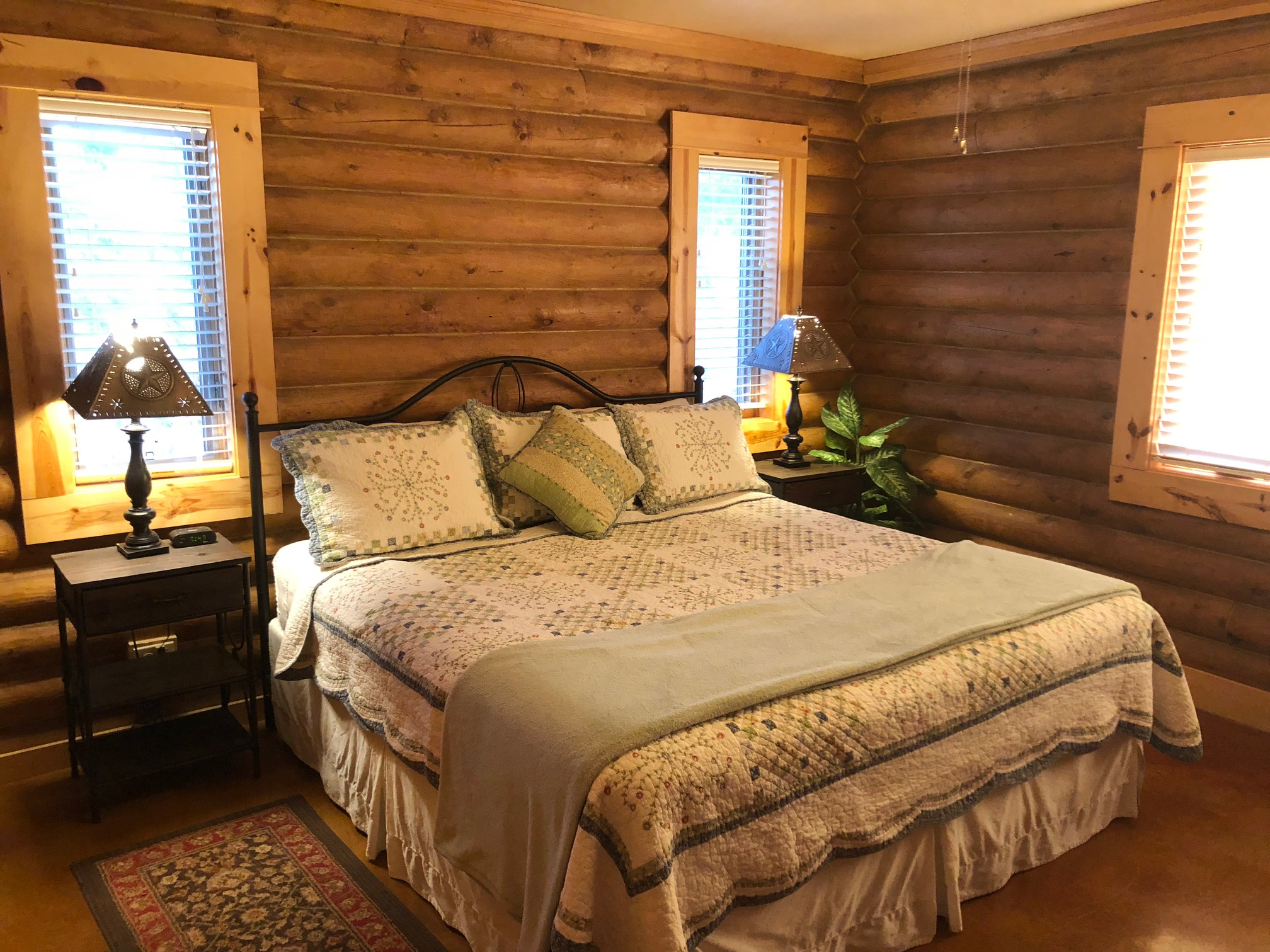 The Log Home master bedroom