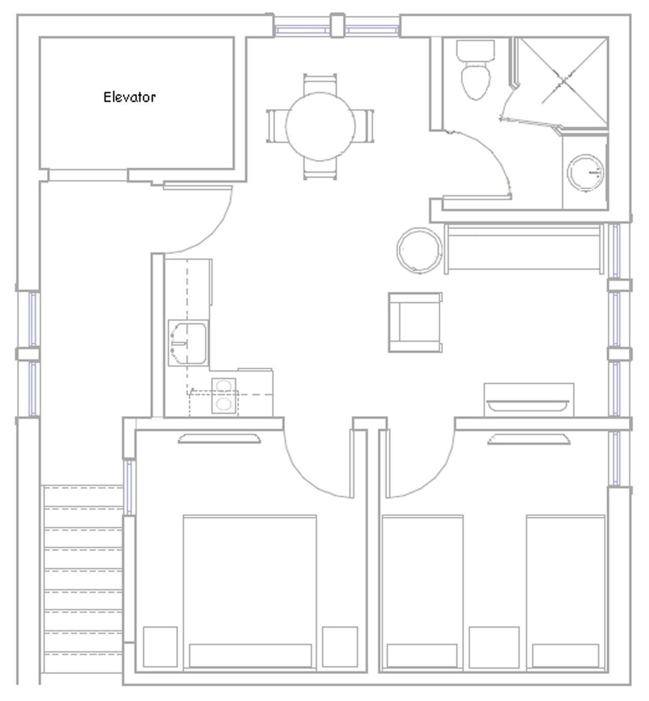Marquis de Lafayette Suite floor plan