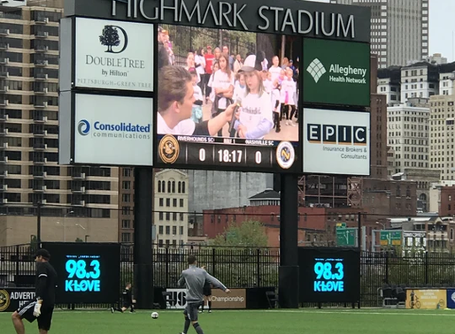 AM and Kidsburgh Celebrate with Pittsburgh Riverhounds