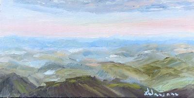 Morning at Blue Ridge Mountains_6x12_Oil_2021.jpg
