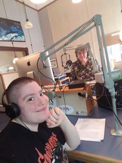 Two Corwins (Salem and Marilu) at WIOX Radio!