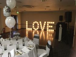 LOVE letters Holiday Inn Wedding