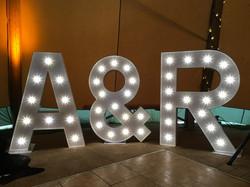 bride and groom initials