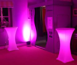 Light Up Poseur Tables